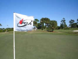 The flags tell the story of windy conditions
