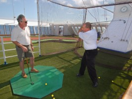 experience a swing lesson on the open sea