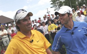 Stephen Ames & Paul Casey raised some money for charity at the Fox Creek Challenge