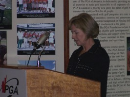 Patty Howard seen here recieving the 2007
