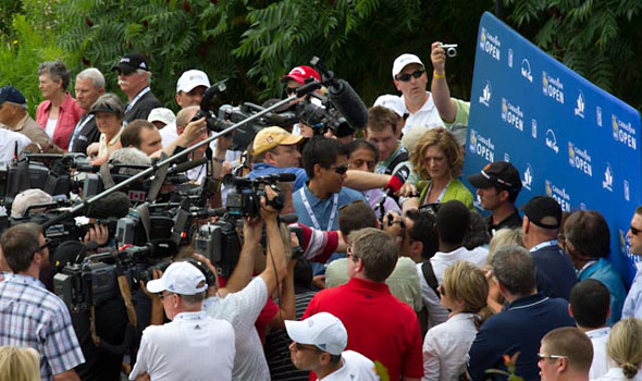 Mike Weir Canadian Open Media Scrum
