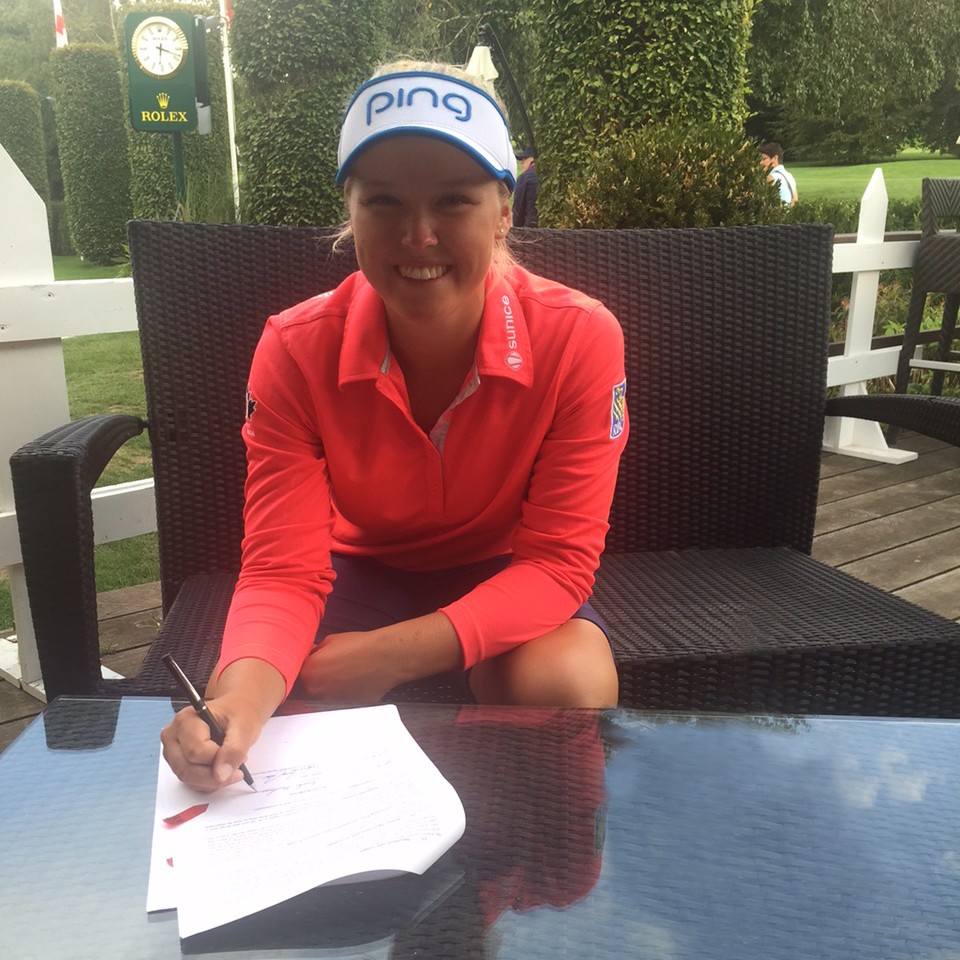 Brooke Henderson has agreed to a contract extension with PING