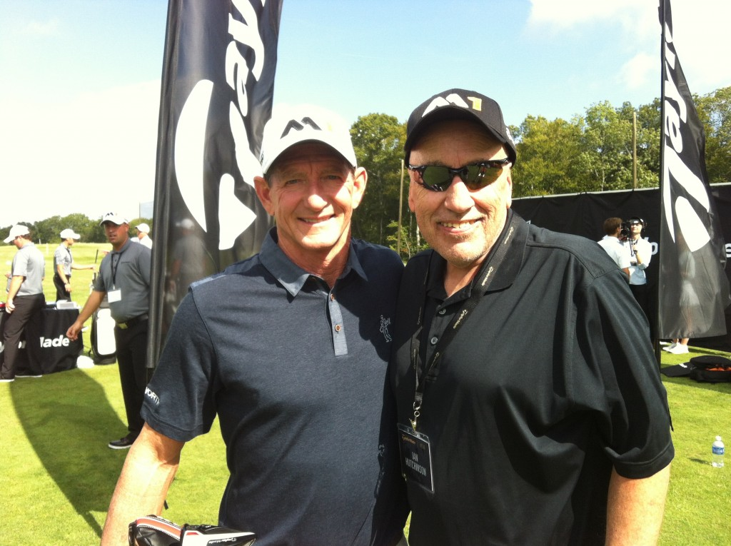 Hutch hanging with Hank Haney at TaylorMade launch