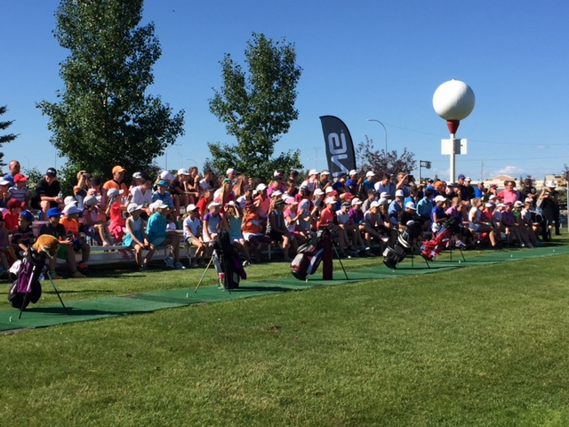 If golf doesn't appeal to youngsters, there sure were a surprising number show up to meet Brooke and Brittany Henderson at a Calgary junior clinic a few weeks ago