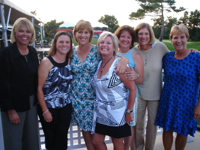 Dawn Coe-Jones (far left( was often surrounded by her friends, including this gathering for the induction of pal Lisa Walters into the Canadian Golf Hall of Fame in 2008 at Ottawa Hunt. From left, beside Dawn, is A.J. Eathorne, Walters, Kally Feltrin, Gail Graham, Nancy Scranton and Karin Mundinger