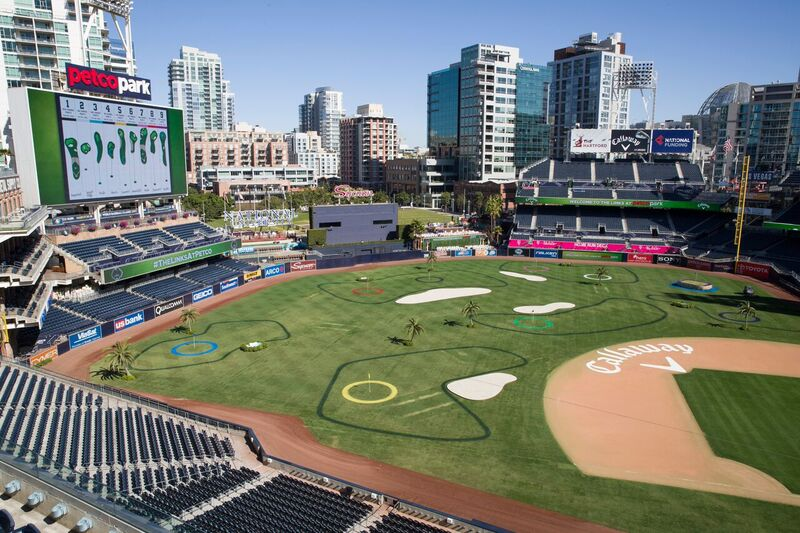 Callaway has once again turned Petco Park in San Diego into a nine-hole golf course